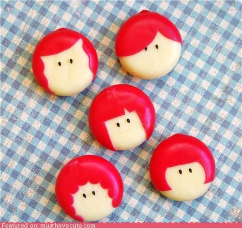babybel,cheese,cute,epicute,girls,hairstyles,snack
