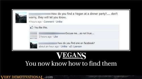 dinner party,facebook,food,lol,nom nom nom,vegans