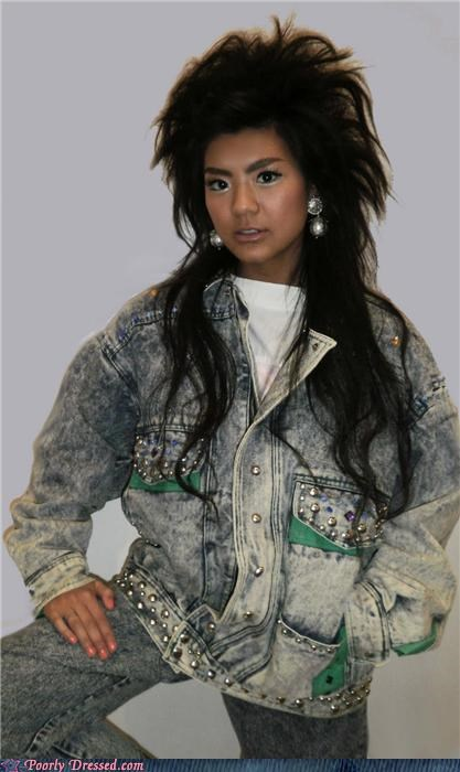 acid wash aquanet denim jacket jeans - 4316752384