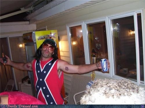 beer,confederate flag,douchebag,Party,sunglasses