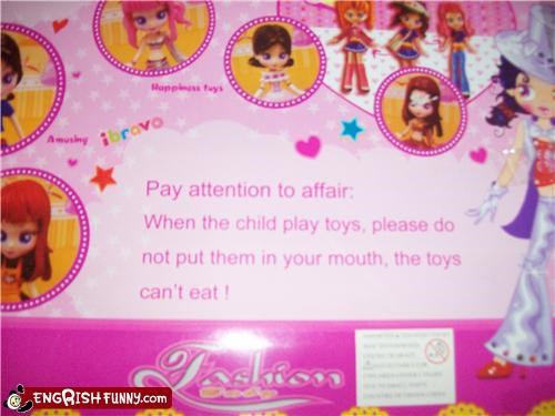 accidental food caution edible food kid kids knockoff toy warning