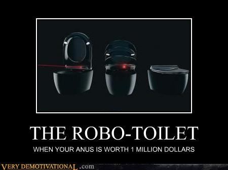 anus,rich people,robots,technology,the future,toilet