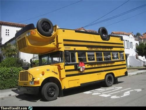 frankenstein school buses wtf - 4317576704