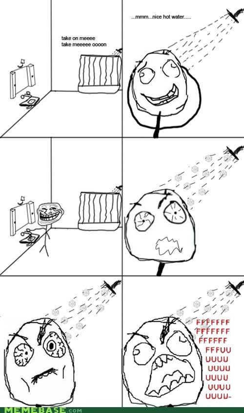 cold,fu,Rage Comics,shocking,shower