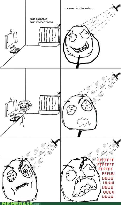 cold fu Rage Comics shocking shower