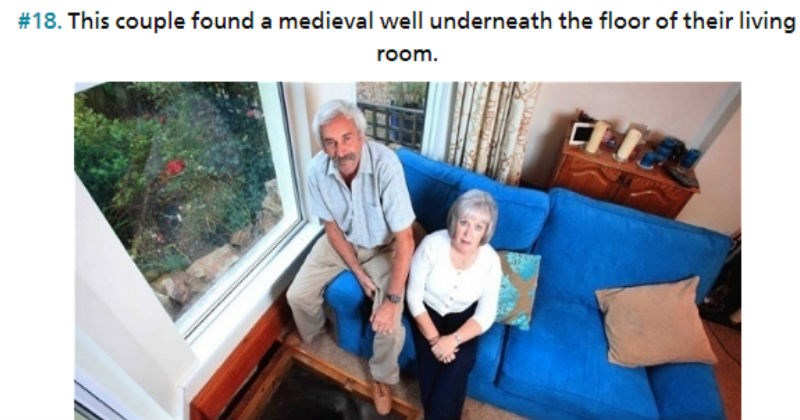 Gallery of pictures showing the craziest things people have found in their home.