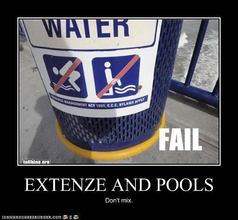 Extenze And Pools Cheezburger Funny Memes Funny Pictures