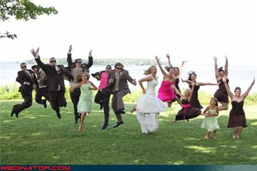 awesome jumping picture bride Crazy Brides crazy groom fashion is my passion funny jumping wedding picture funny wedding photos groom jumping bridesmaids jumping for joy jumping groomsmen jumping trend jumping wedding party Reservoir Dogs surprise were-in-love wedding party - 4319572480