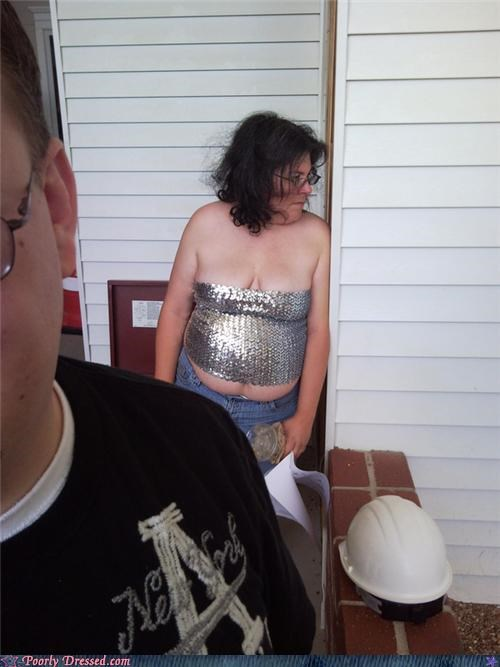 cleavage gross Sequins tube top