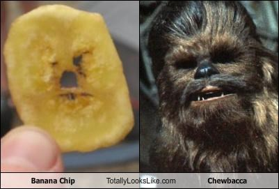 banana chip,chewbacca,food,star wars