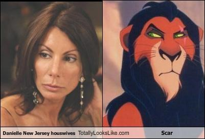 cartoons Danielle Staub Real Housewives of New Jersey scar the lion king