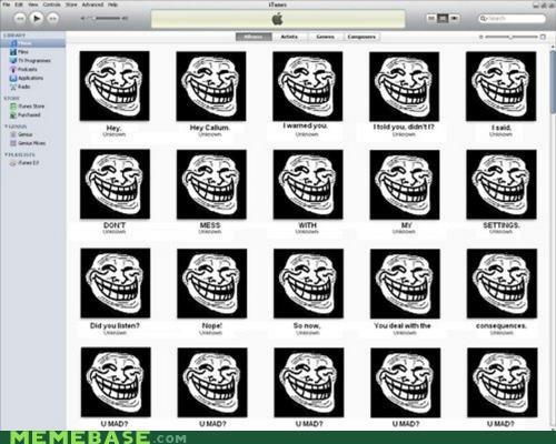 iTunes,troll,troll face