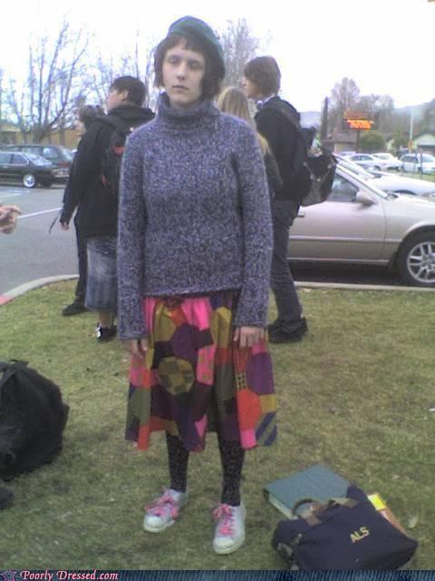 80s leggings quilt skirt sweater weird - 4320545536