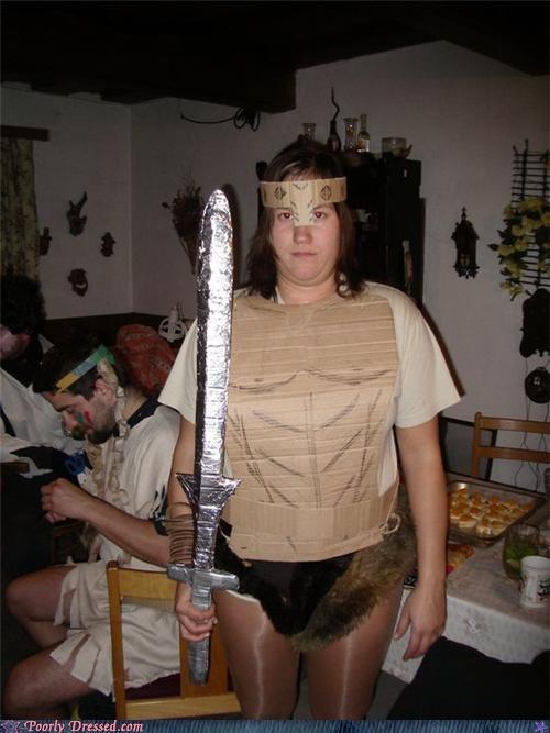armor cardboard conan muscles sword tin foil - 4320705280