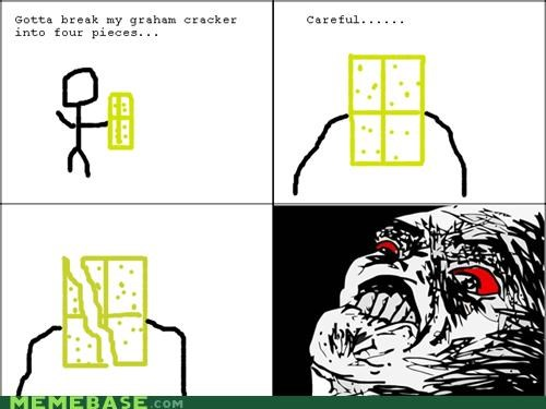 broken,graham cracker,rage,Rage Comics,uneven