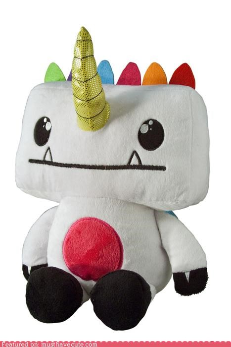horn monster Plush toy unicorn - 4321619456