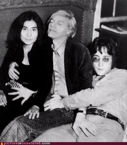 Andy Warhol celeb crotch grab john lennon wtf yoko ono - 4321835008