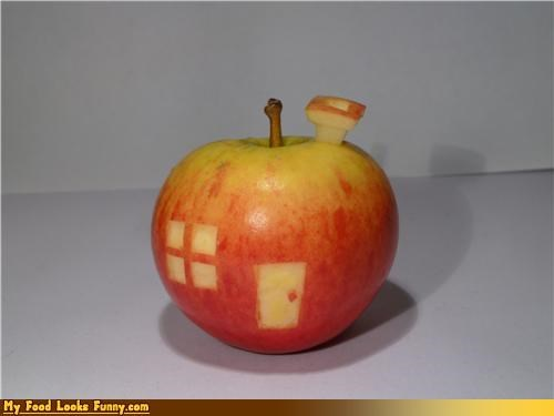 apple,carved,house,lowly worm,richard scarry,worm