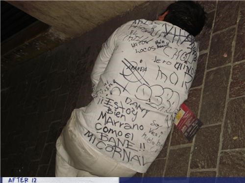 drunk marker passed out prank sharpie shirt sidewalk - 4321964032