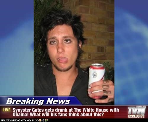 Breaking News - Synyster Gates gets drunk at The White House