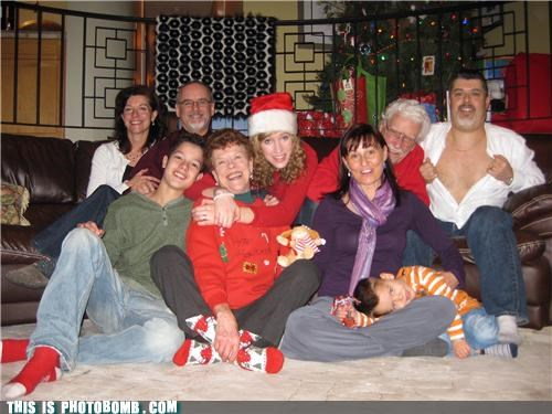 boobs,family portrait,jk,lol,photobomb,santa,shirts
