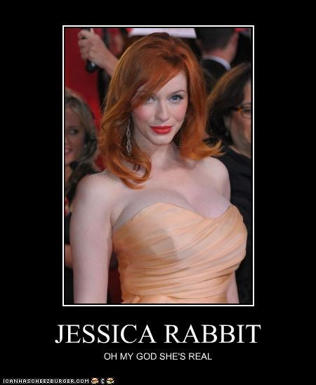 actor celeb Christina Hendricks demotivational funny lolz - 4324002560