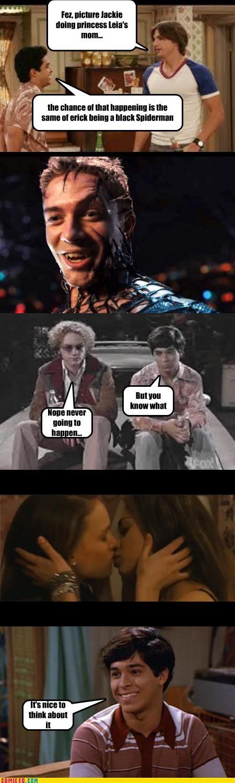 black swan KISS lesbian jokes mila kunis natalie portman Queen Amadala Spider-Man that 70s show TV Venom - 4324229120