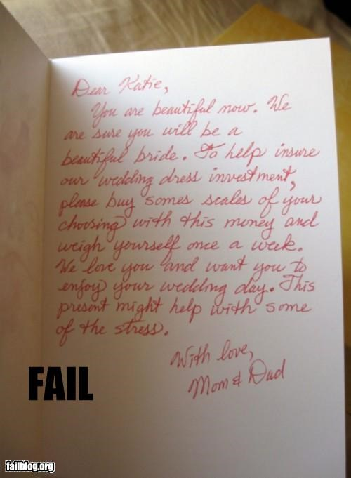 bad idea card failboat fat g rated inspiring mean mom scales wedding wedding dress - 4324335616