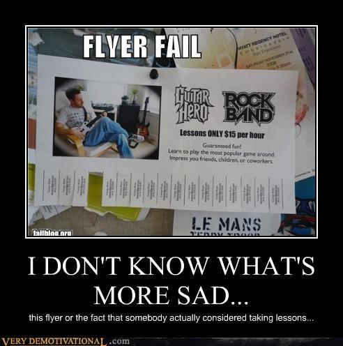 FAIL Guitar Hero rock band sad but true Videogames - 4324446464