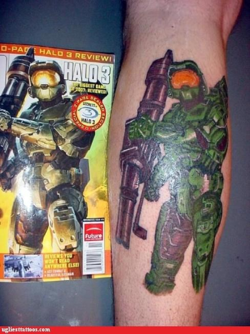 halo video games master chief tattoos