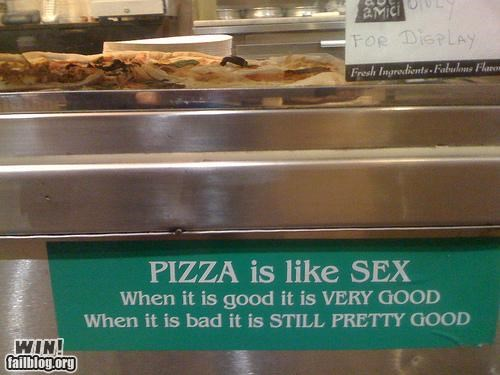 awesome at work,pizza,sex