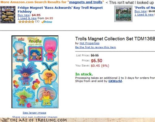 amazon cheap collect them all magnets shoppers beware trolls - 4324905728