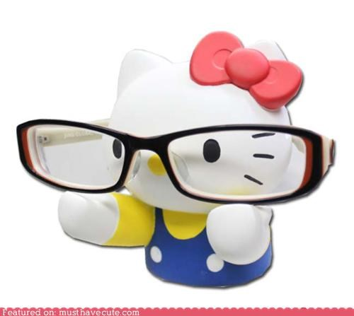 glasses,hello kitty,nerd,stand
