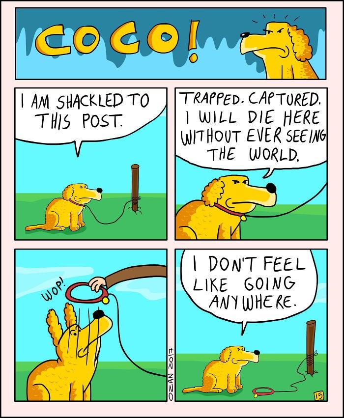 crisis dogs pessimist web comics - 4325125