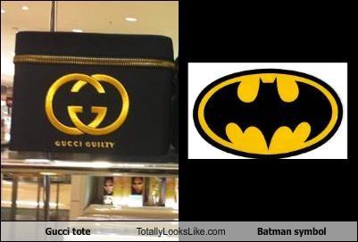 batman batman symbol gucci tote bag - 4325702656