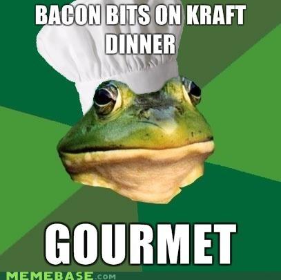 bacon bits foul bachelor frog kraft dinner toque - 4325768960