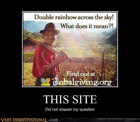 double rainbow,questions,the internet,what does it mean