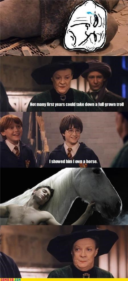 Harry Potter,horse,puns,trolls