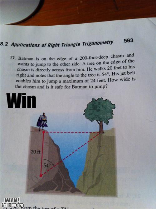 batman class math nerdgasm school tests - 4326337280