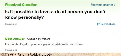 necrophilia,yahoo answers,love