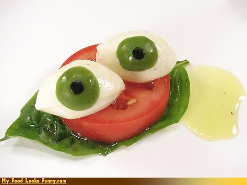 basil,caprese,cheese,eyes,salad,tomato