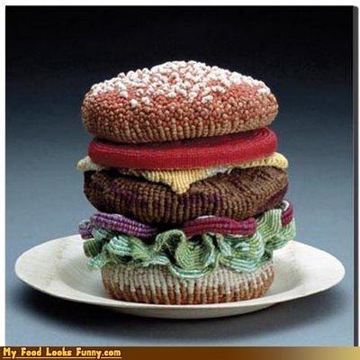 art beads burger sculpture - 4326558464