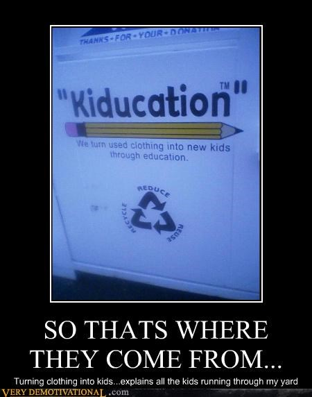 education kiducation makes sense recycle wtf - 4326629376