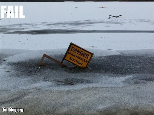 dangerous,failboat,g rated,ice,sign,sinking,warning