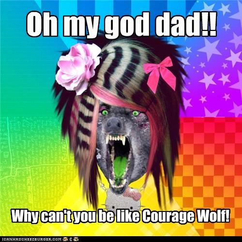 animemes,Courage Wolf,dad,my idol,scene wolf