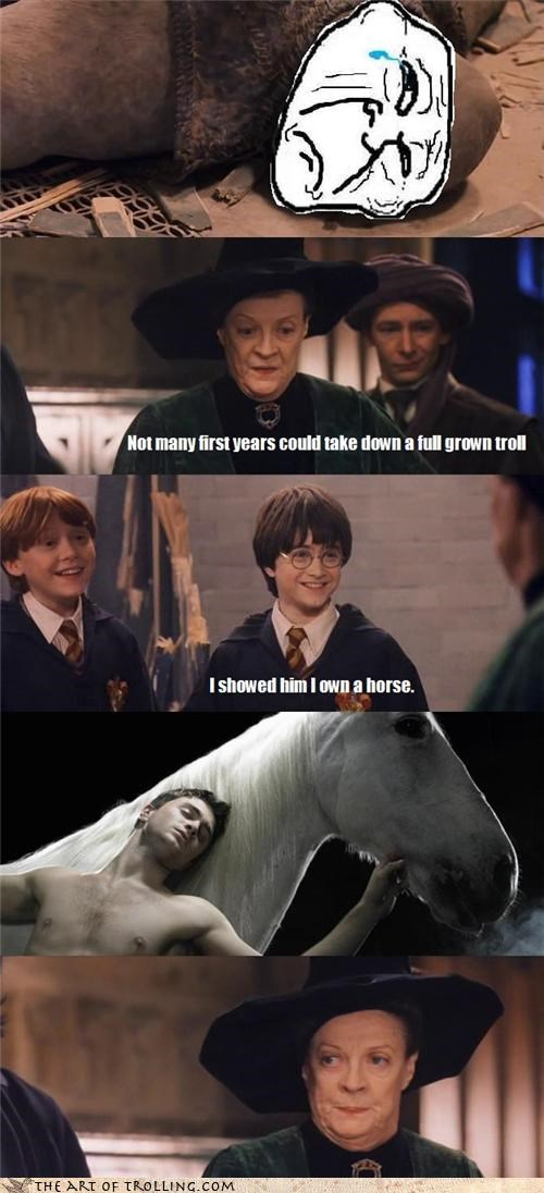 comic Daniel Radcliffe Harry Potter i own a horse troll - 4327747072