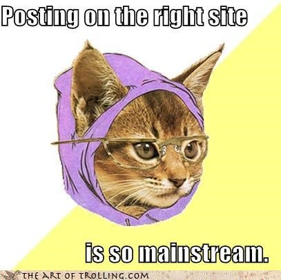 Hipster Kitty mainstream meme stream memebase - 4327779840