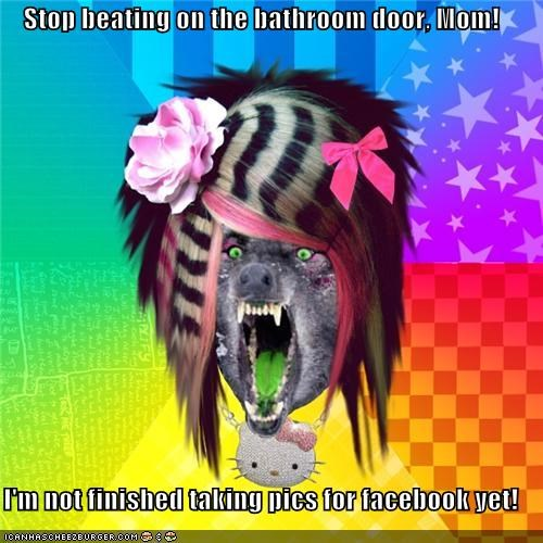 bathroom facebook scene wolf self portrait - 4328021504