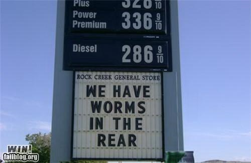 awesome at work gas station play on words signs - 4328340224