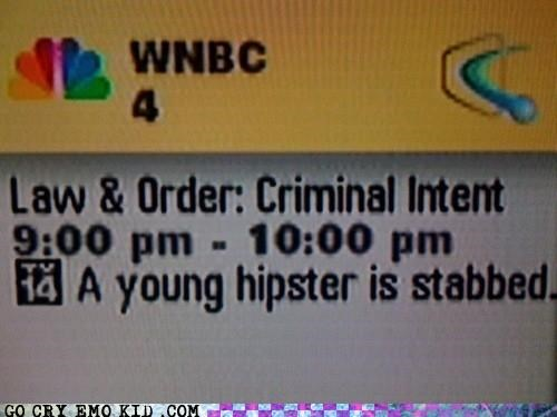 criminal intent hipster law and order murder stabbing - 4328855296